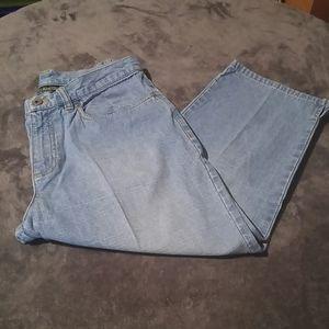 Ralph Lauren Petite Womens 8P Capri Blue Jeans